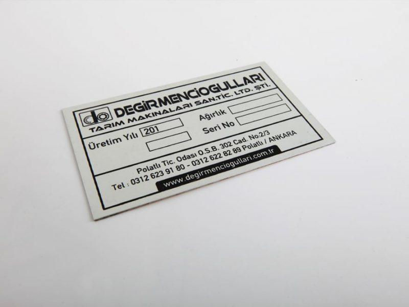 Serigrafi Baskı Metal Etiket, Metal Üzerine Serigrafi Baskı, Metal Etiket Ankara, Serigrafi Etiket Baskı, Metal Etiket Baskı, Serigrafi Etiket, Kabartma Metal Etiket, Ostim Serigrafi Metal Etiket